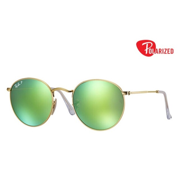 b607932a5f NEW ✨ Ray-Ban Round Metal • Polarized Flash Lenses